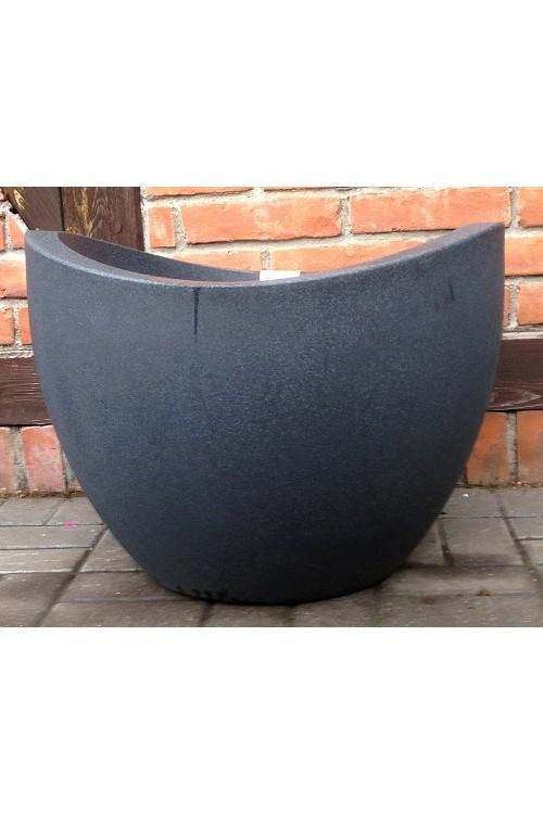 Donica Wave Globe Czarny Granit 14331 średnica 60 Cm