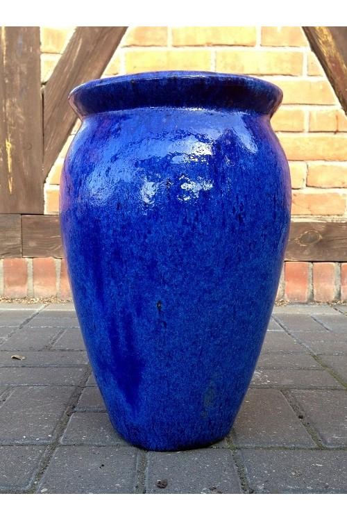 Donica Wazon Szkliwiony Niebieski S2 79991590 38x50